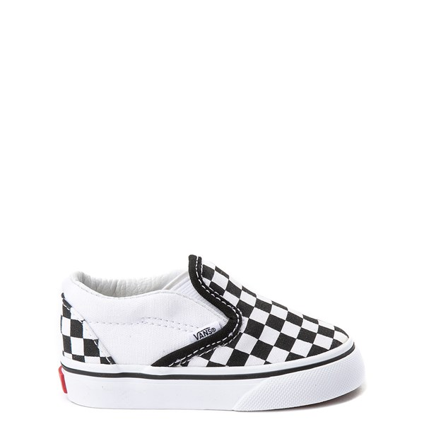 Default view of Vans Slip On Checkerboard Skate Shoe - Baby / Toddler - Black / White