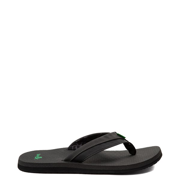 Main view of Mens Sanuk Cozy Light Sandal - Black