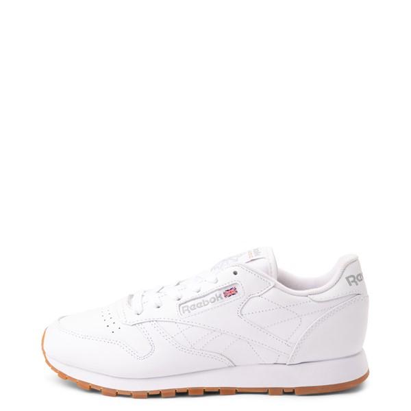 alternate view Womens Reebok Classic Leather Athletic Shoe - White / GumALT1
