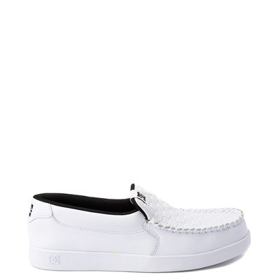Main view of Mens DC Villain Skate Shoe - White