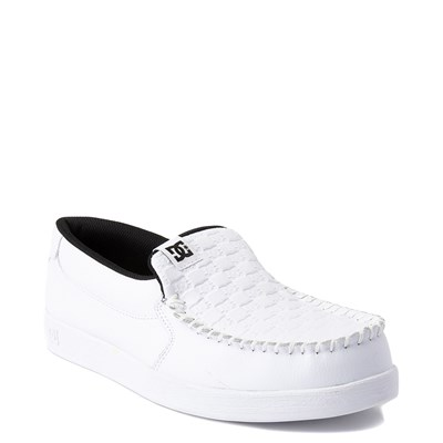 Alternate view of Mens DC Villain Skate Shoe - White