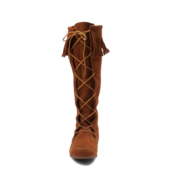 alternate view Mens Minnetonka Front Lace Knee High BootALT4