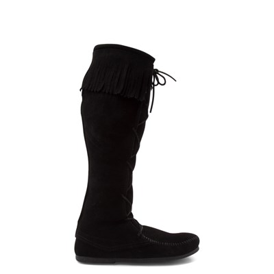 Main view of Mens Minnetonka Front Lace Knee High Boot - Black