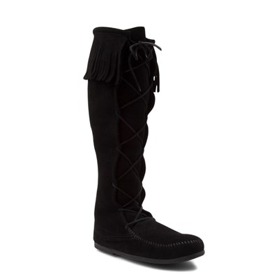 Alternate view of Mens Minnetonka Front Lace Knee High Boot - Black