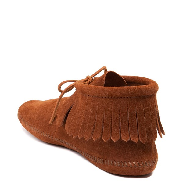 alternate view Mens Minnetonka Classic Fringe Boot - BrownALT2