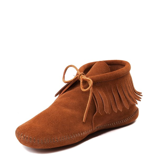 alternate view Mens Minnetonka Classic Fringe Boot - BrownALT3