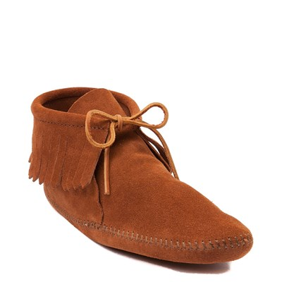 Alternate view of Mens Minnetonka Classic Fringe Boot - Brown