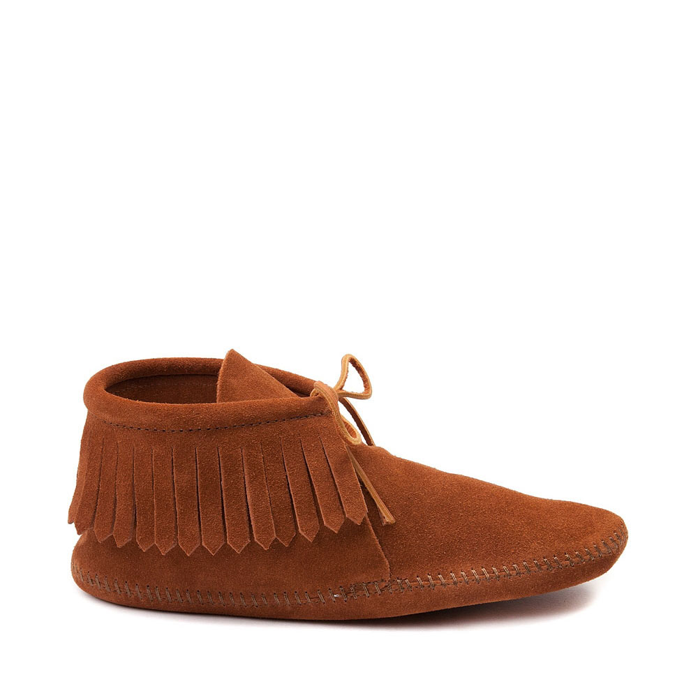 Mens Minnetonka Classic Fringe Boot - Brown