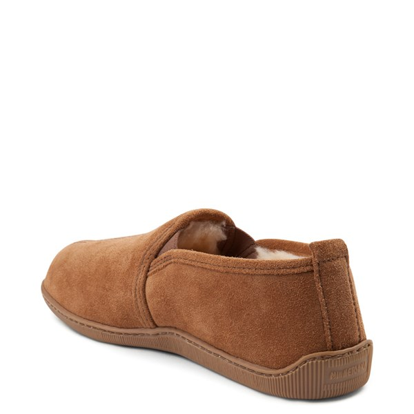alternate view Mens Minnetonka Twin Gore Sheepskin Slipper - TanALT2