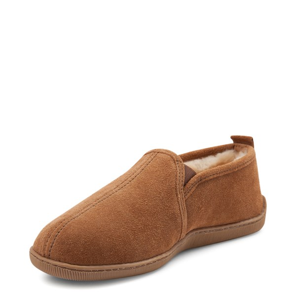 alternate view Mens Minnetonka Twin Gore Sheepskin Slipper - TanALT3