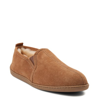 Alternate view of Mens Minnetonka Twin Gore Sheepskin Slipper - Tan