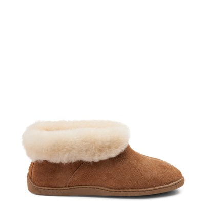 Main view of Mens Minnetonka Sheepskin Ankle Boot - Tan