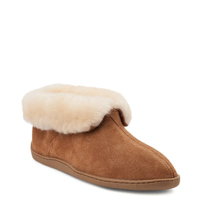 Alternate view of Mens Minnetonka Sheepskin Ankle Boot - Tan