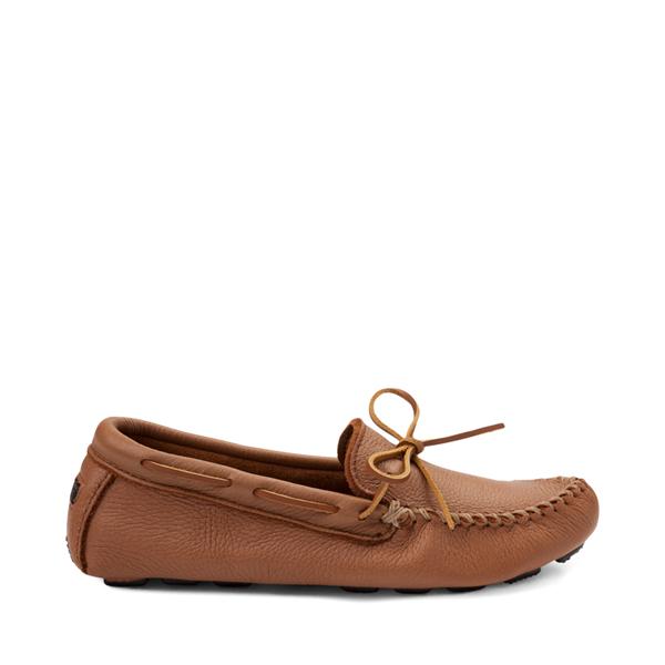Mens Minnetonka Moosehide Driver Casual Shoe - Natural