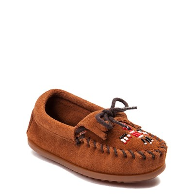 Alternate view of Minnetonka Thunderbird II Casual Shoe - Little Kid - Brown