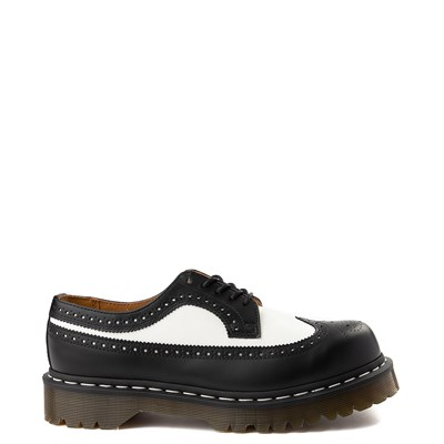 Main view of Dr. Martens 3989 Brogue Casual Shoe - Black / White