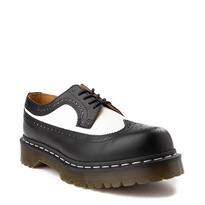 Alternate view of Dr. Martens 3989 Brogue Casual Shoe - Black / White