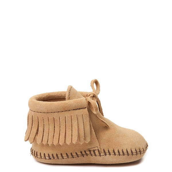 Main view of Minnetonka Fringe Bootie - Baby / Toddler - Tan