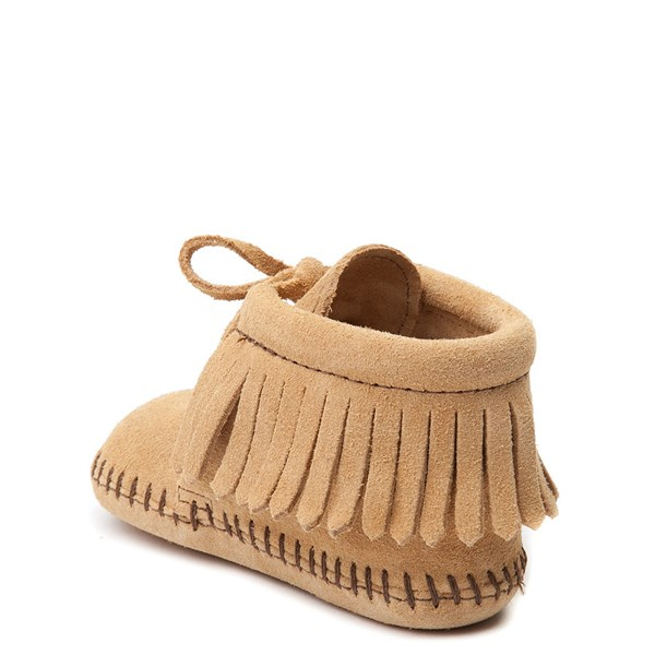 alternate view Minnetonka Fringe Bootie - Baby / Toddler - TanALT2