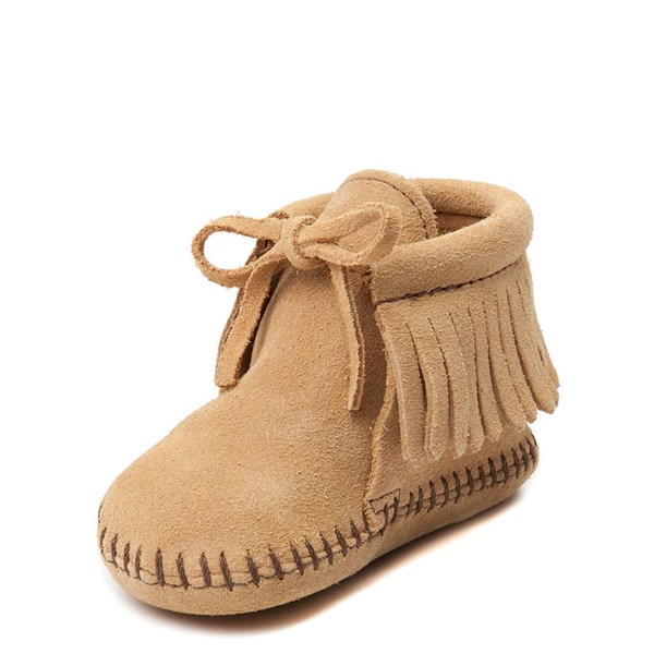 alternate view Minnetonka Fringe Bootie - Baby / Toddler - TanALT3