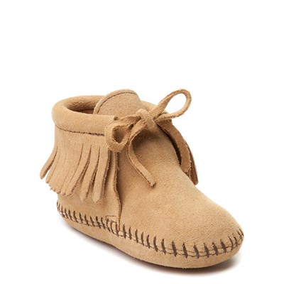 Alternate view of Minnetonka Fringe Bootie - Baby / Toddler - Tan
