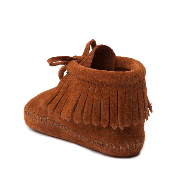 alternate view Minnetonka Fringe Bootie - Baby / Toddler - BrownALT1