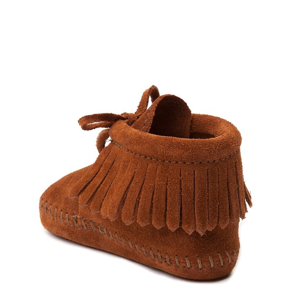 alternate view Minnetonka Fringe Bootie - Baby / Toddler - BrownALT2