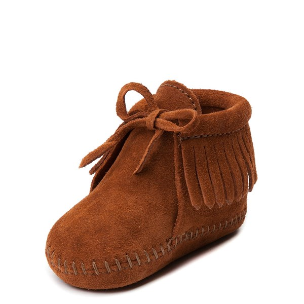 alternate view Minnetonka Fringe Bootie - Baby / Toddler - BrownALT3
