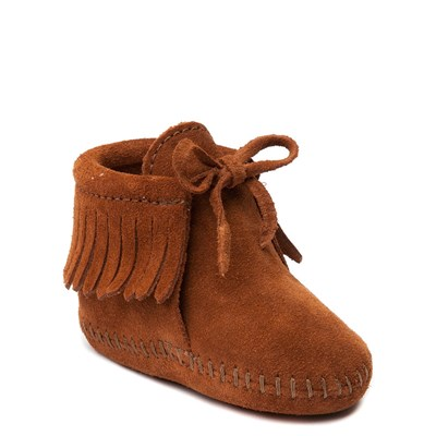 Alternate view of Minnetonka Fringe Bootie - Baby / Toddler - Brown