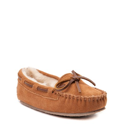 Alternate view of Minnetonka Cassie Moccasin - Little Kid - Cinnamon