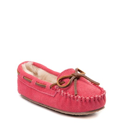 Alternate view of Minnetonka Cassie Moccasin - Little Kid - Pink