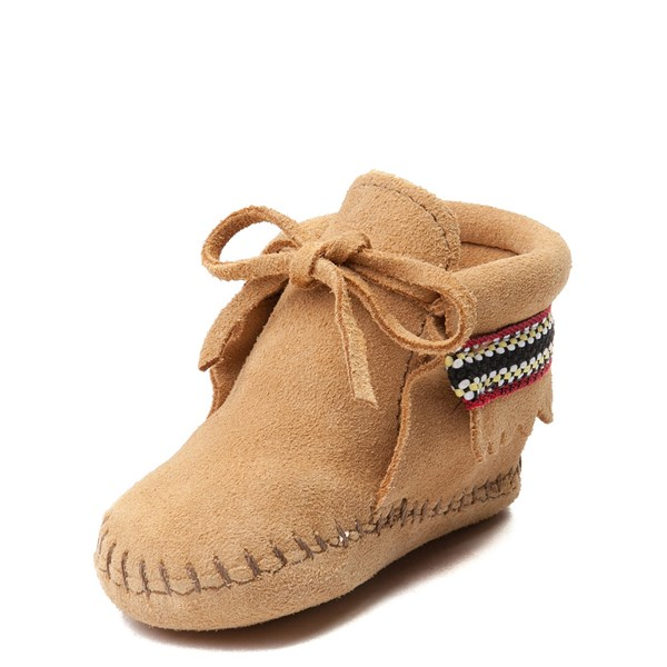 alternate view Minnetonka Braid Bootie - Baby / Toddler - TanALT2