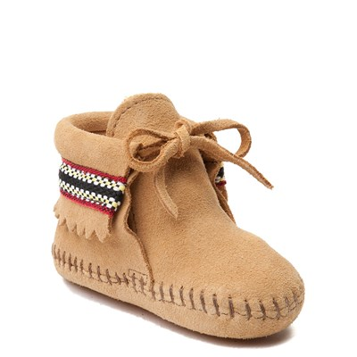 Alternate view of Minnetonka Braid Bootie - Baby / Toddler - Tan