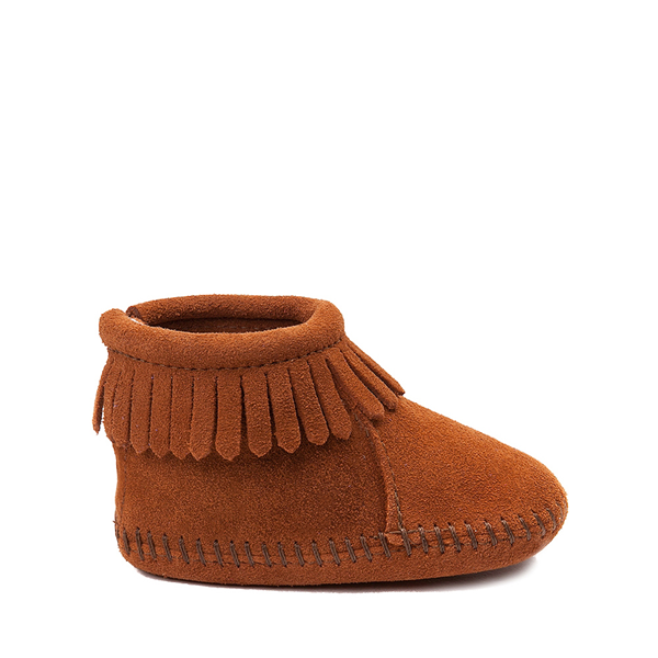 Main view of Minnetonka Back Flap Bootie - Baby / Toddler - Brown