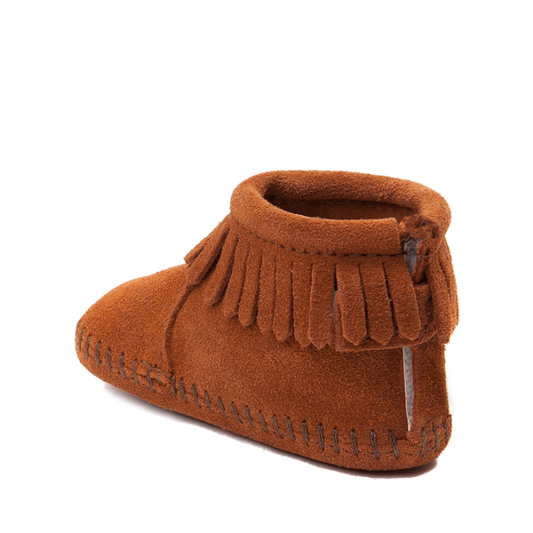alternate view Minnetonka Back Flap Bootie - Baby / Toddler - BrownALT1