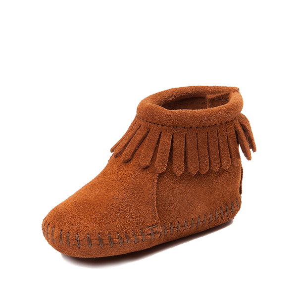 alternate view Minnetonka Back Flap Bootie - Baby / Toddler - BrownALT2