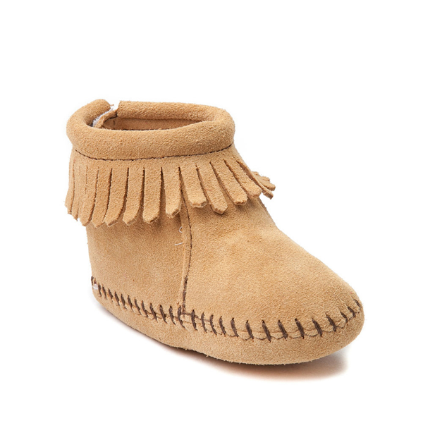 alternate view Minnetonka Back Flap Bootie - Baby / Toddler - TanALT5