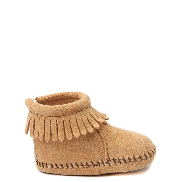 Main view of Minnetonka Back Flap Bootie - Baby / Toddler - Tan