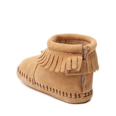 Alternate view of Minnetonka Back Flap Bootie - Baby / Toddler - Tan