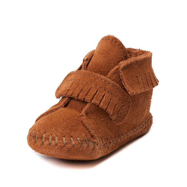 alternate view Minnetonka Front Strap Bootie - Baby / Toddler - BrownALT2