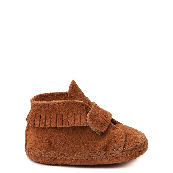 Main view of Minnetonka Front Strap Bootie - Baby / Toddler - Brown