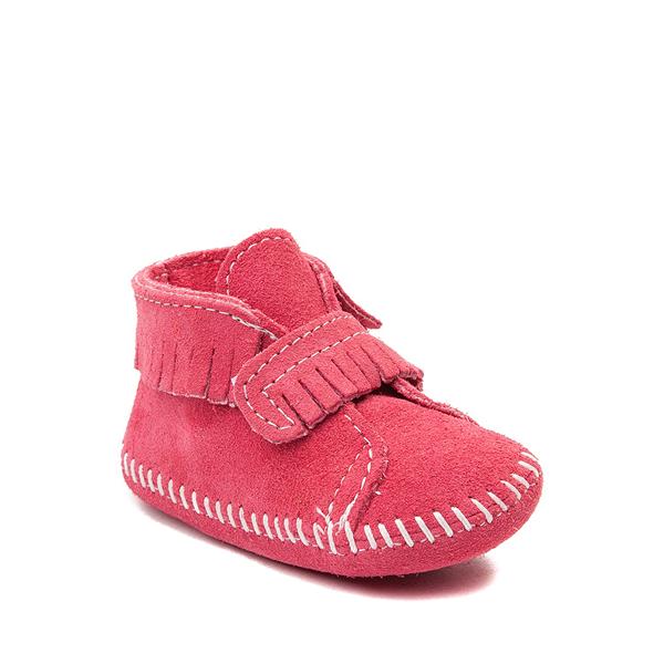 alternate view Minnetonka Front Strap Bootie - Baby / Toddler - PinkALT5
