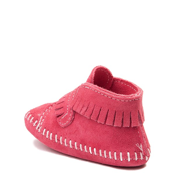 alternate view Minnetonka Front Strap Bootie - Baby / Toddler - PinkALT2