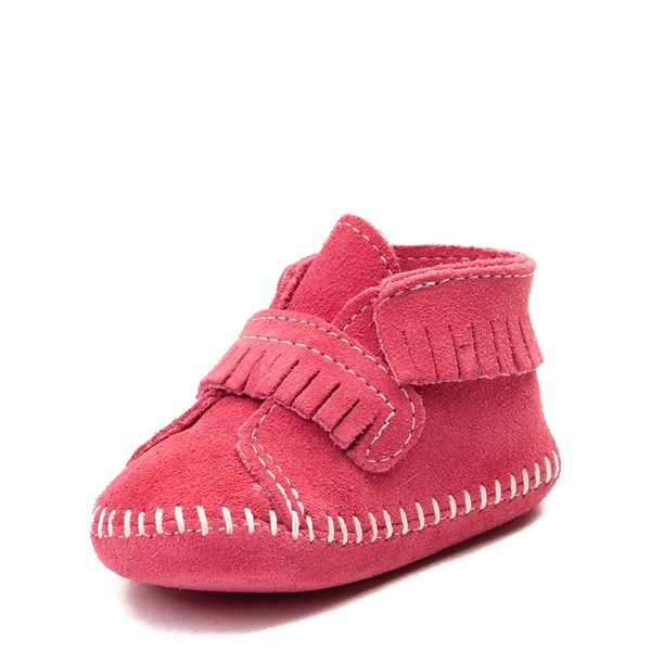 alternate view Minnetonka Front Strap Bootie - Baby / Toddler - PinkALT3