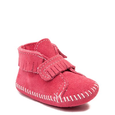 Alternate view of Minnetonka Front Strap Bootie - Baby / Toddler - Pink
