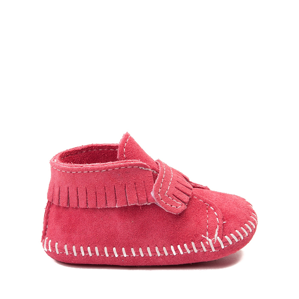 Minnetonka Front Strap Bootie - Baby / Toddler - Pink