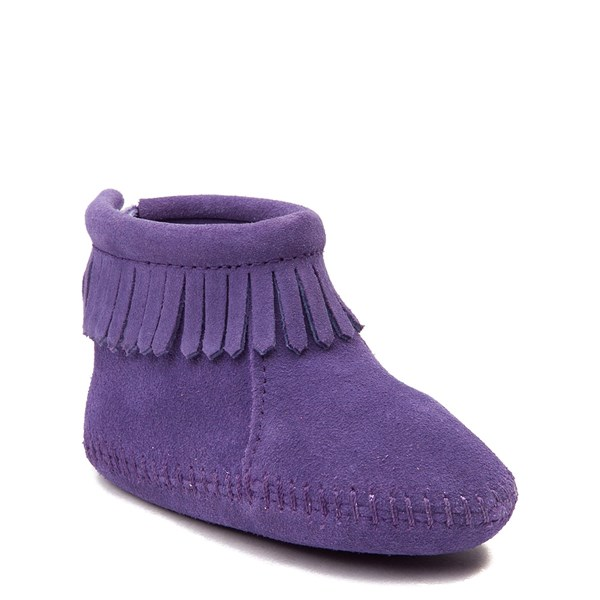 alternate view Minnetonka Back Flap Bootie - Baby / Toddler - PurpleALT1