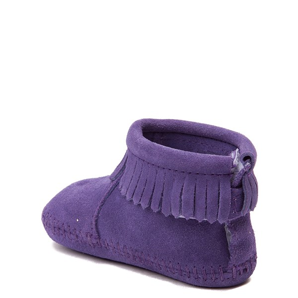 alternate view Minnetonka Back Flap Bootie - Baby / Toddler - PurpleALT2