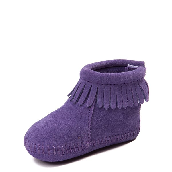 alternate view Minnetonka Back Flap Bootie - Baby / Toddler - PurpleALT3