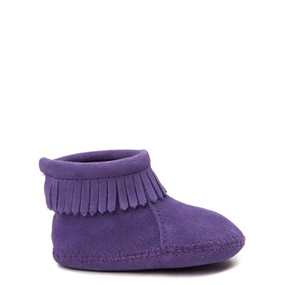 Main view of Minnetonka Back Flap Bootie - Baby / Toddler - Purple